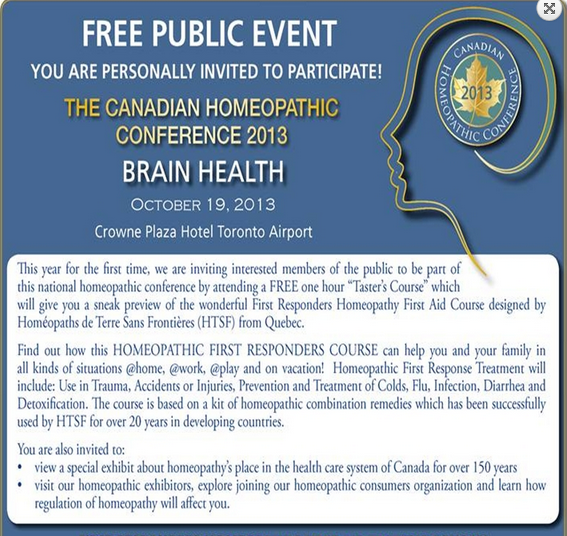 Canada: Free Homeopathy Course for Public 12