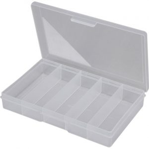 5 Compartment Plastic Storage Box 1