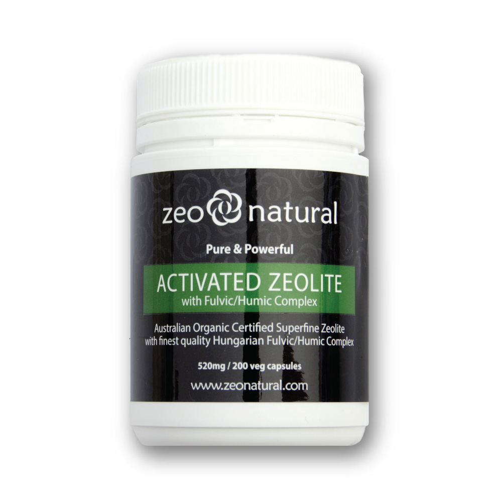 Activated Zeolite (Clinoptilolite) + Fulvic/Humic Acid Capsules 2